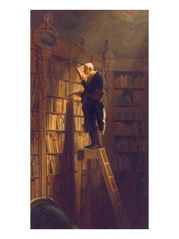 Le rat de bibliothèque, vers 1850 Reproduction procédé giclée