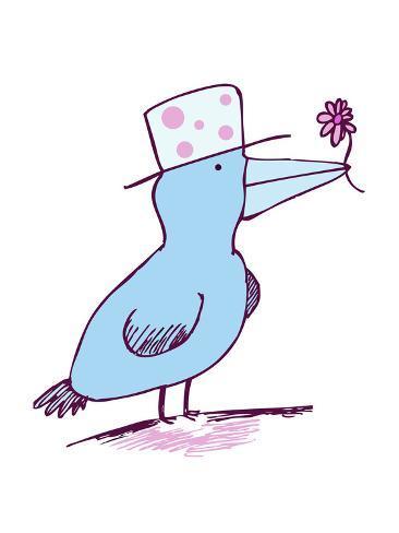 Oiseau en fleur Reproduction procédé giclée