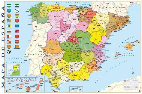 Carte d'Espagne Posters sur AllPosters.fr