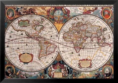 Carte du monde du 17ème siècle Affiches sur AllPosters.fr