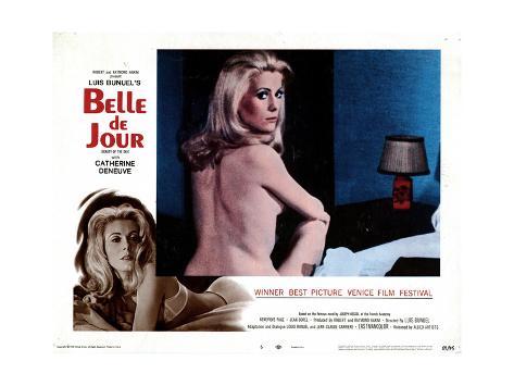 Catherine Deneuve dans Belle de Jour, film de Luis Buñuel, 1967 Reproduction procédé giclée