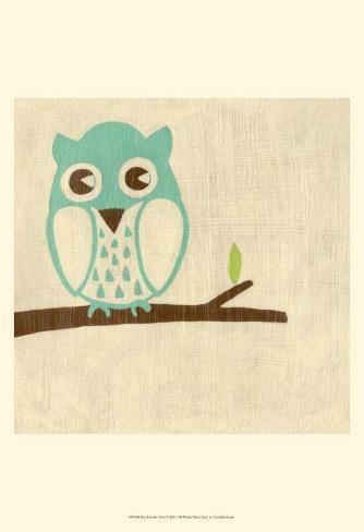 Best Friends - Owl Reproduction d'art