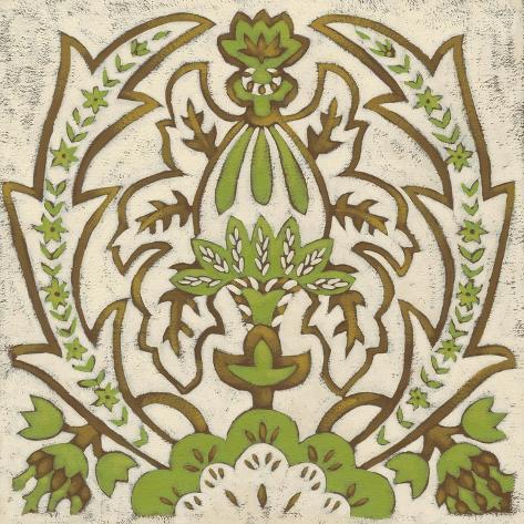 Lotus Tapestry II Reproduction d'art