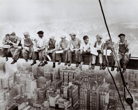 Déjeuner au sommet d'un gratte-ciel, 1932 Reproduction d'art