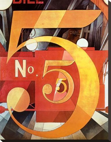 Le chiffre 5 en or (1928) Toile tendue sur châssis