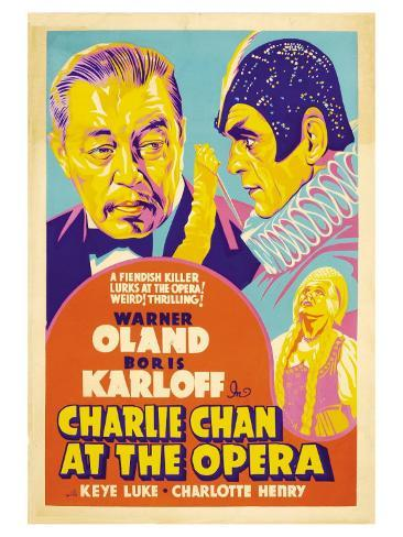 Charlie Chan at the Opera, 1936 Reproduction giclée Premium