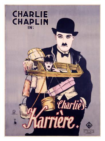 Charlie Chaplin - Charlie's Karrière Reproduction procédé giclée