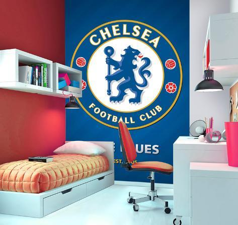 chelsea football club deco papier peint mural papier peint sur. Black Bedroom Furniture Sets. Home Design Ideas