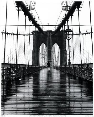 pont de brooklyn new york poster par christopher bliss sur. Black Bedroom Furniture Sets. Home Design Ideas