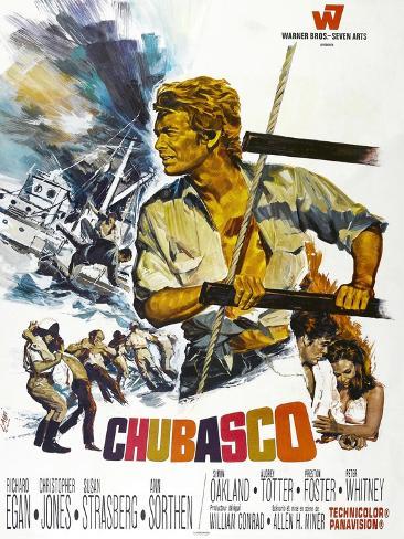 Chubasco, US poster, Richard Egan, 1967 Reproduction d'art