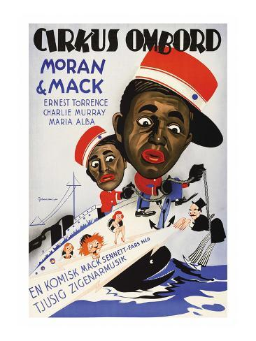 Circus on Board - Comedy with Mack and Moran Reproduction d'art