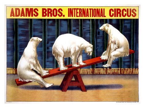 Cirque des Frères Adams Reproduction procédé giclée