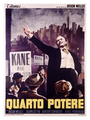 Citizen Kane (Italian Release) Reproduction procédé giclée