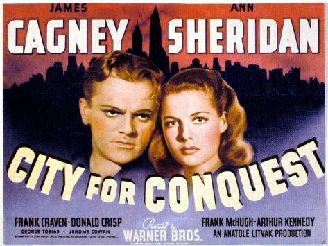 City for Conquest, James Cagney, Ann Sheridan, 1940 Photographie
