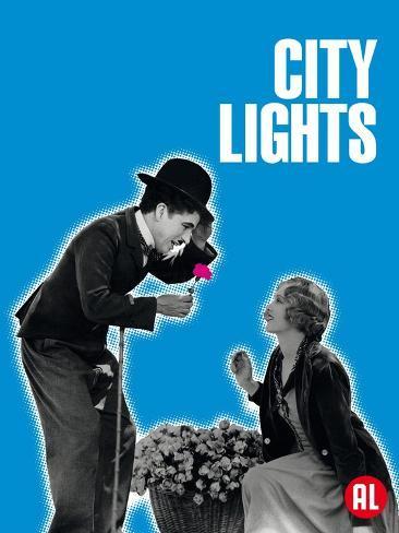 City Lights, Belgian Movie Poster, 1931 Reproduction giclée Premium