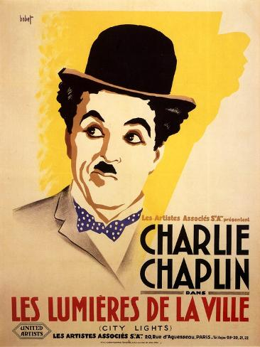 City Lights, French Movie Poster, 1931 Reproduction d'art
