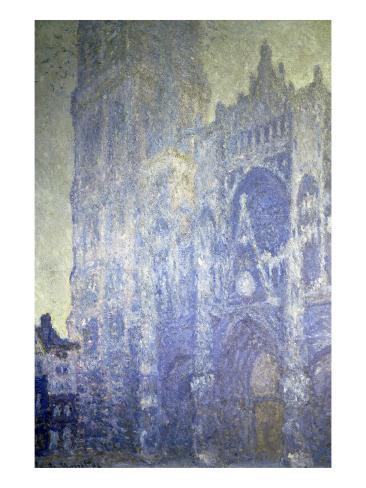 Cathedrale de Rouen, Effet Du Matin Reproduction procédé giclée