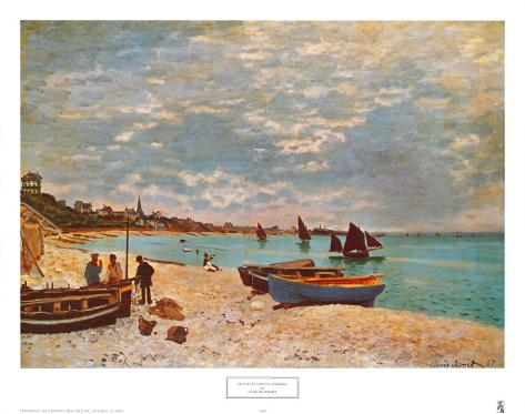 La plage de Sainte-Adresse Reproduction d'art