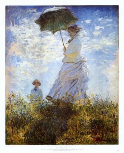 Madame Monet et son fils Reproduction d'art