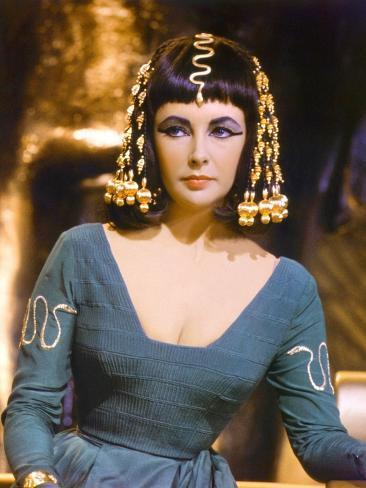 Cleopatra by Joseph L. Mankiewicz with Elizabeth Taylor, 1963 Photographie