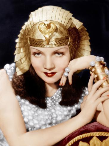 Cleopatra, Claudette Colbert, 1934 Photographie