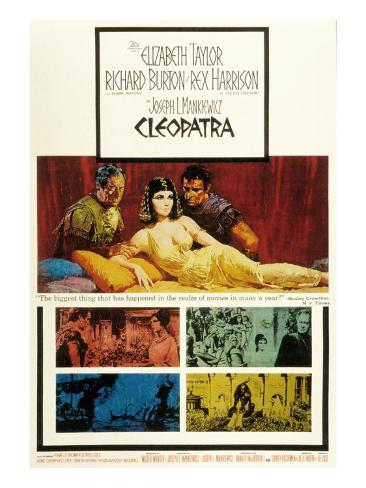 Cleopatra, Elizabeth Taylor, 1963 Photographie