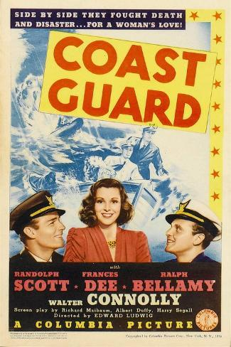 Coast Guard, Randolph Scott, Frances Dee, Ralph Bellamy, 1939 Reproduction d'art