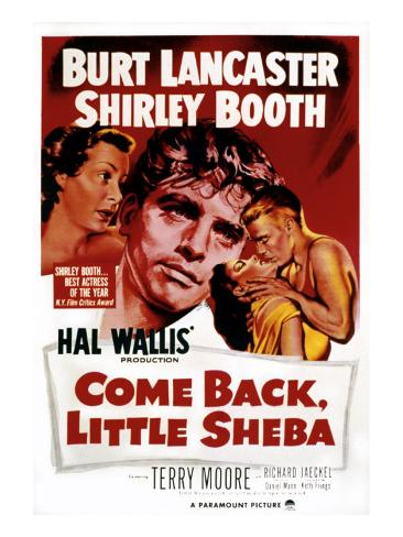 Come Back, Little Sheba, Burt Lancaster, Shirley Booth, 1952 Photographie