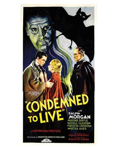 Condemned To Live - 1935 Reproduction procédé giclée
