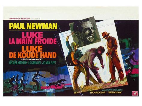 Cool Hand Luke, Belgian Movie Poster, 1967 Reproduction d'art