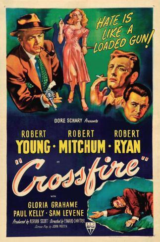 Crossfire, 1947 Affiche originale