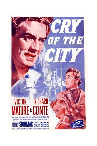Cry of the City, Victor Mature, Richard Conte Reproduction procédé giclée