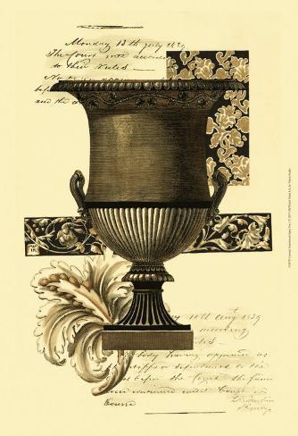 Custom Transitional Sepia Urn I Reproduction d'art