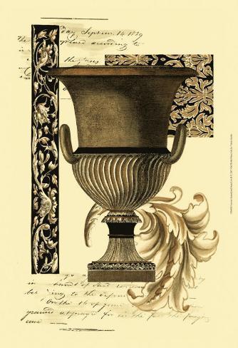 Custom Transitional Sepia Urn II Reproduction d'art