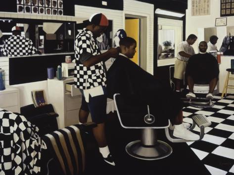 The Barbershop Reproduction procédé giclée
