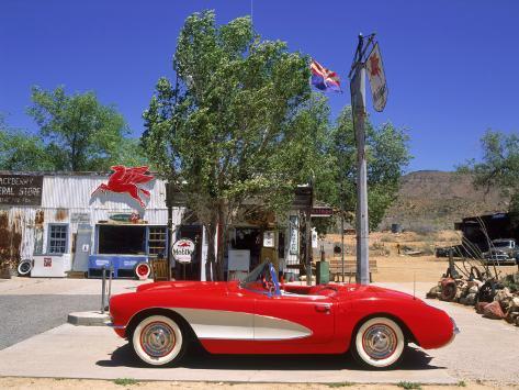 1957 Chevrolet Corvette, Hackberry, AZ Reproduction photographique