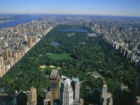 Vue a rienne de central park nyc reproduction for Hotel economici new york centro