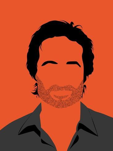 Hank Portrait Reproduction d'art