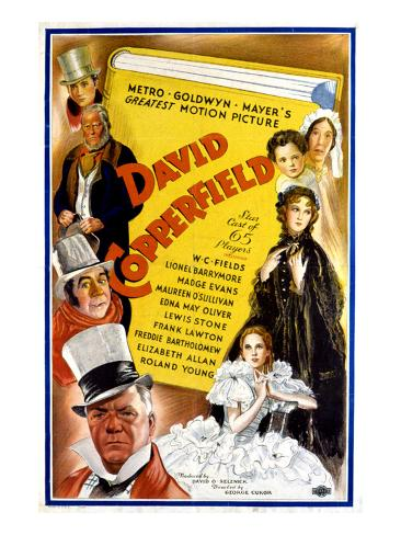 David Copperfield, W.C. Fields, Freddie Bartholomew, 1935 Photographie