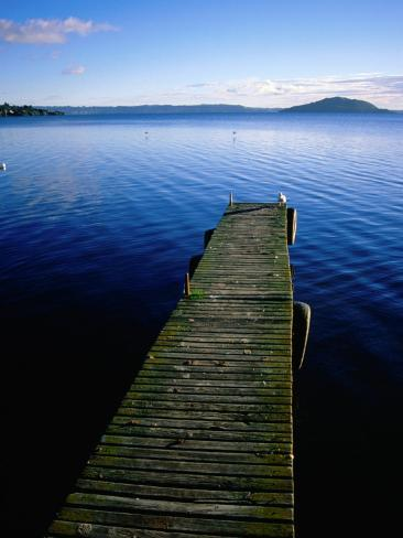 Pier on Lake Rotorua, Rotorua, New Zealand Reproduction photographique