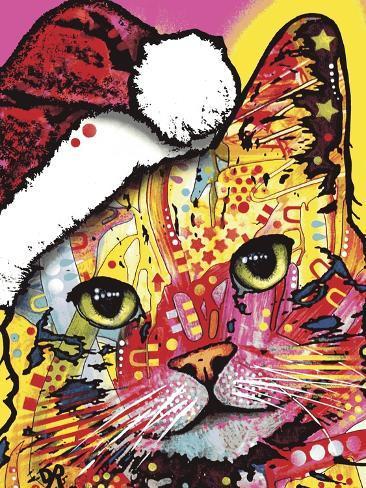 Tilt Cat Christmas Edition Reproduction procédé giclée
