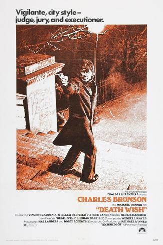 DEATH WISH, Charles Bronson, 1974 Reproduction d'art