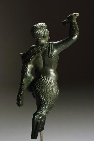 Depiction of Pan with Flutes, Bronze Artifact from Butrint, Albania Reproduction procédé giclée
