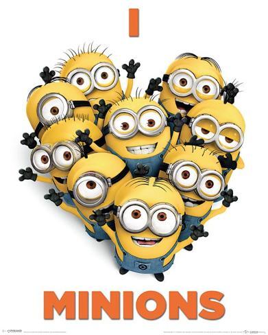 Despicable Me 2 - I Love Minions Mini-affiche