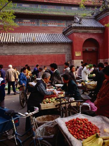 Bell tower street market beijing china reproduction - Maison familiale design a beijing en china par arch studio ...