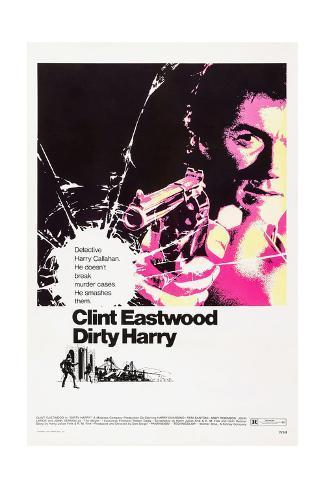 Dirty Harry, 1971 Reproduction procédé giclée