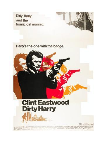 Dirty Harry, Clint Eastwood, 1971 Photographie