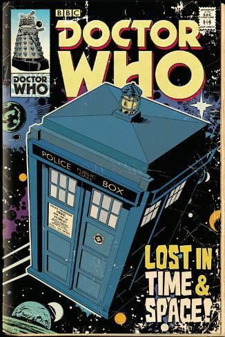 Doctor Who Tardis Comic Poster