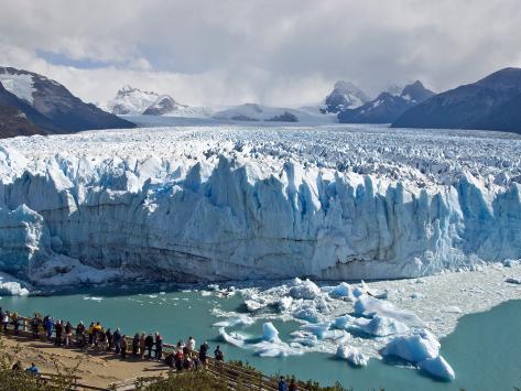 Visitors Viewing Glacier Perito Moreno from Catwalk Reproduction photographique