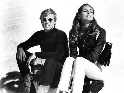 Downhill Racer, Robert Redford, Camilla Sparv, 1969 Photographie
